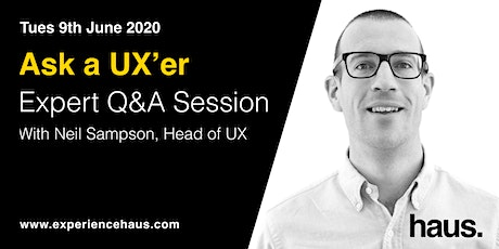 Ask a UX'er - FREE Expert Q&A Session tickets