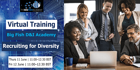 D&I VIRTUAL TRAINING: RECRUITING FOR  DIVERSITY (2 parts in 2 days) tickets