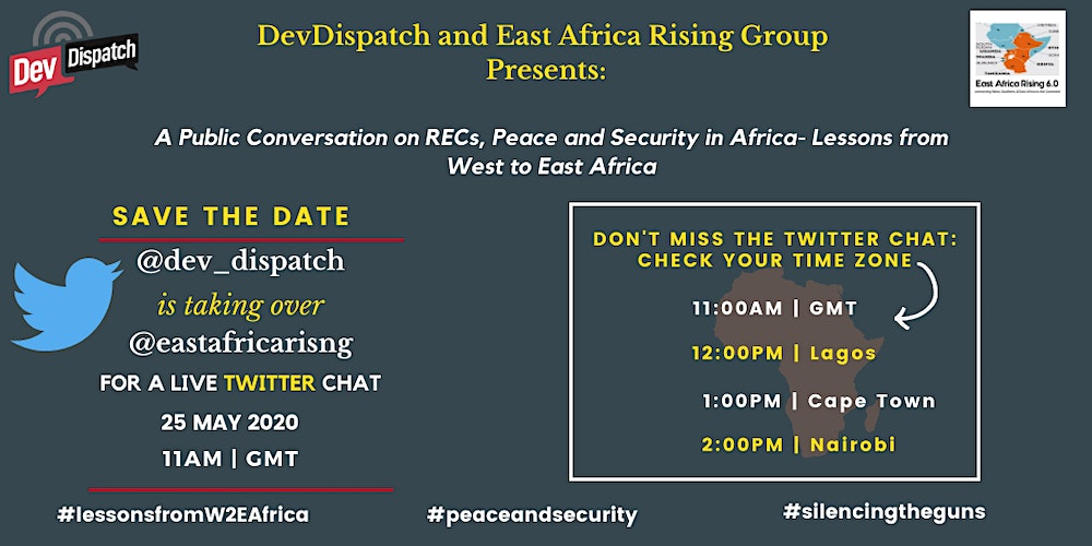 DevDispatch and East Africa Rising Group Twitter Chat Tickets, Mon, May 25, 2020 at 1:00 PM | Eventbrite
