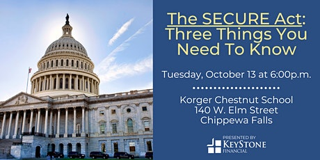 The SECURE Act: Three Things You Need To Know tickets