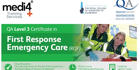QA Level 3 Certificate in First Response Emergency Care (RQF) [FREC3] tickets