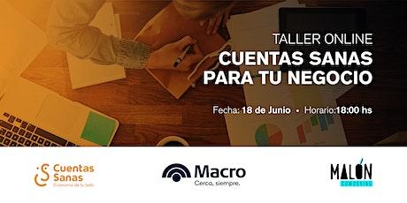 Taller Online • Cuentas Sanas para tu Negocio tickets