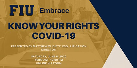 Knowing Your Rights (COVID-19) tickets