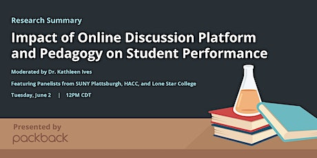 Research Webinar: Impact of Online Discussion Pedagogy on Student Outcomes tickets