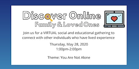 Discover Online for Family: You Are Not Alone tickets