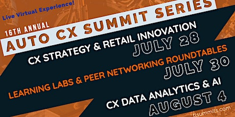 Automotive CX Summit Series - Live Virtual Experience! tickets