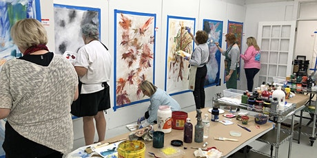 "Afternoon ""BE FREE"" large scale free themed abstract painting class tickets"