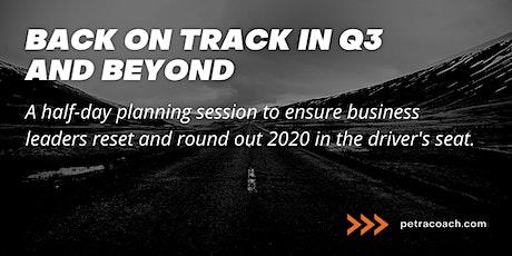 Back on Track in Q3: A Petra Planning Workshop biglietti