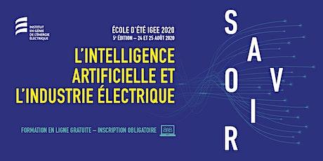 L'Intelligence artificielle et l'industrie électrique billets