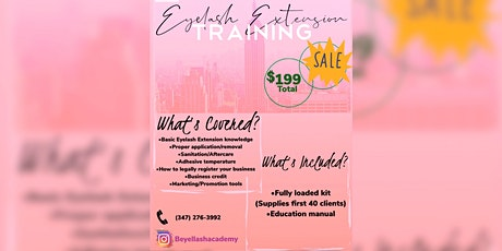 Eyelash Extension training *Mega Sale* tickets