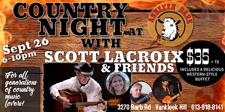 COUNTRY NIGHT with Scott Lacroix & Friends tickets