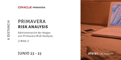 Curso de Primavera Risk Analysis boletos