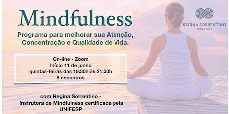 CURSO DE MINDFULNESS 0NLINE  COM INTERAÇÃO(EM 8 SEMANAS) ingressos