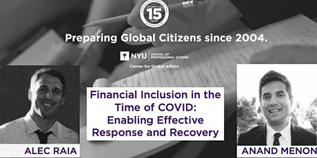 Financial Inclusion in the Time of COVID: Enabling Effective Response and Recovery tickets