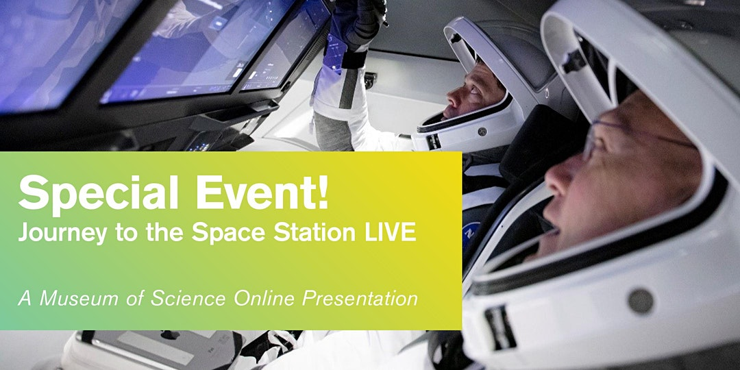 [picture of astronauts: Special Event! Journey to the Space Station Live]