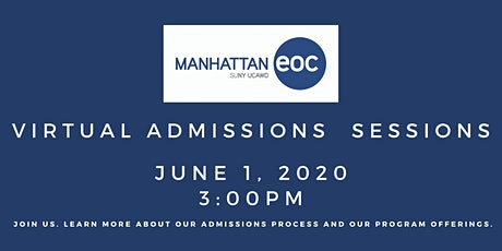 Virtual Admissions Session: June 1 tickets