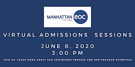 Virtual Admissions Session: June 8 tickets