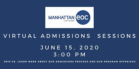 Virtual Admissions Session: June 15 tickets