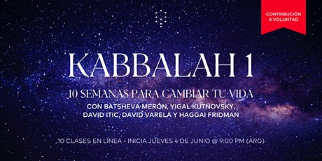 Kabbalah 1 | Inicia: 4.Jun.20 | 9.00PM entradas