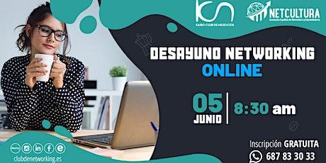 DESAYUNO NETWORKING ONLINE. Charla de Empresarios. entradas
