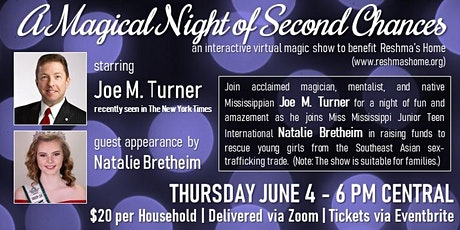 A Magical Night of Second Chances (online show to help sex trade victims) tickets