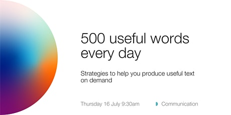 ANUHDR: 500 useful words every day tickets