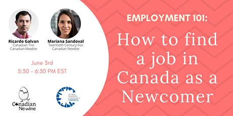 Employment 101: How to find a job in Canada as a Newcomer tickets