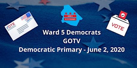 Ward 5 Democrats 2020 GOTV Line-Up tickets