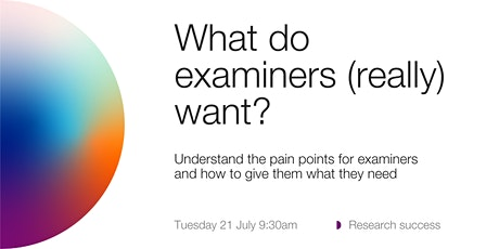 What do thesis examiners (really) want?   tickets