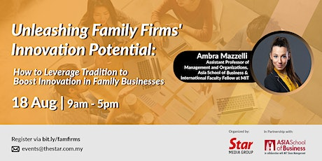 Unleashing Family Firms' Innovation Potential tickets