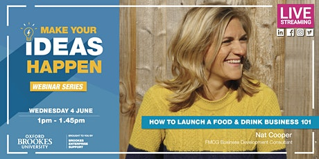 Webinar: How to launch a Food &Drink business 101 tickets