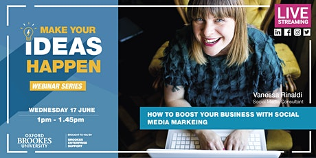 Webinar: How to Boost your Business with Social Media Marketing tickets