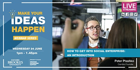 Webinar: How to get into Social Enterprise: an Introduction tickets