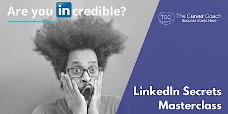 LinkedIn Secrets Webinar tickets
