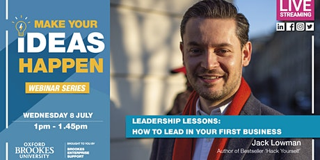 Webinar: Leadership Lessons: How to lead in your first business tickets