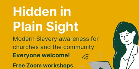 Hidden in Plain Sight  - Modern Slavery awareness tickets