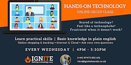 Hands-on Technology online beginners workshop tickets