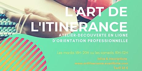 """Atelier-découverte """"L'Art de l'Itinérance"""" pour booster vos projets billets"""