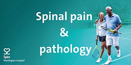Virtual seminar - Spinal pain and pathology tickets