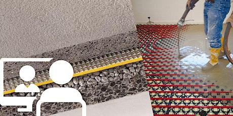 Webconference | Sistemi certificati per l'isolamento termoacustico dei divisori orizzontali e soluzioni per pavimenti riscaldati biglietti