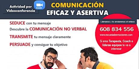 Charla informativa online del Curso Comunicación efectiva asertiva entradas