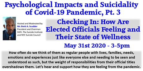 SISFI Psychological Impacts Suicidality of Covid-19 Pandemic Virtual Forum3 tickets
