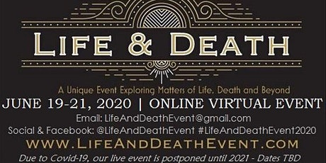 Life & Death Event - Shepherdstown, WV (Live Postponed to 2021) tickets