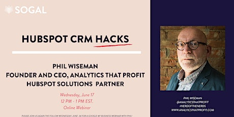 HubSpot Productivity Hacks with Phil Wiseman [Indiana] tickets