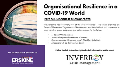 Organisational Resilience in a COVID-19 World tickets