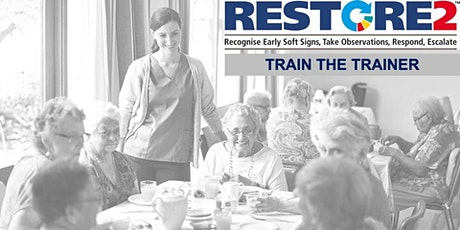 RESTORE2 Train the Trainer virtual training for care staff in the Community tickets