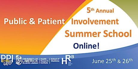 5th Public and Patient Involvement (PPI) Summer School (HRB/UL-GEMS-HRI) tickets