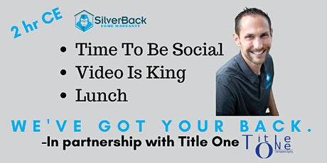 2HR FREE CE (Time To Be Social), (Video Is King), both are Referral Based CE courses )-Jason Cook tickets