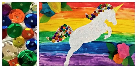 Bedazzled Unicorn Workshop (5-12 Years)  *VIRTUAL CLASS   tickets
