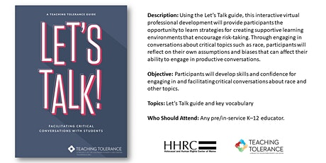 Let's Talk: Facilitating Critical Conversations with Students tickets